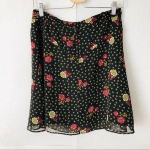 Loft | Floral Flowy Mini Skirt Size Small